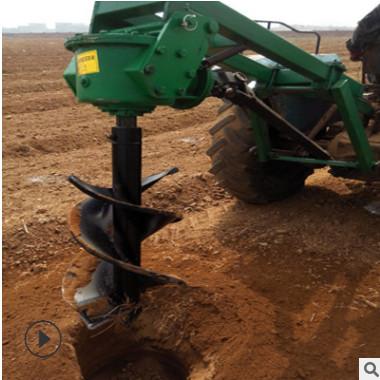 四轮自走式多功能植树挖坑机 便携式打洞机 汽油大马力挖坑机
