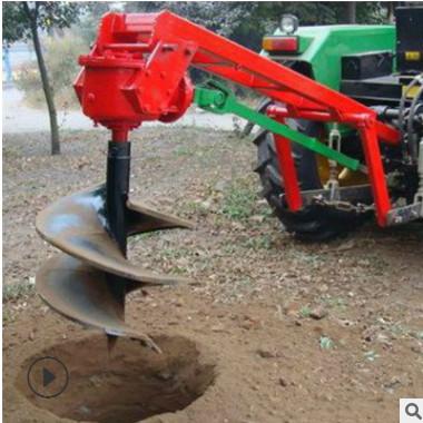 四轮带大型立柱多功能植树挖坑机 汽油便携式山药种植挖坑机现货