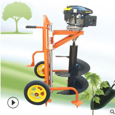 手推框架链条挖坑机 实用高效施肥打洞机 大型车载挖坑机现货供应