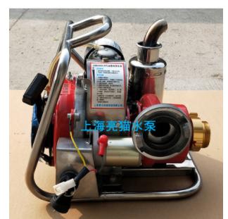 亮猫8马力汽油森林背负泵手抬三级电动离心泵180米扬程防汛急水泵
