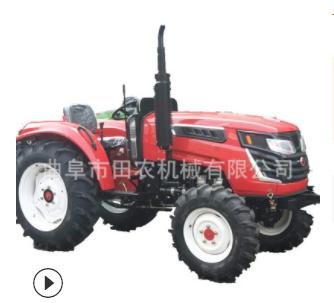 454四缸农用拖拉机 四驱多功能田园管理机 高效率大马力拖拉机