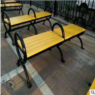 厂家直销防腐木公园椅 户外休闲园林椅 定制实木碳化木桌椅平凳椅