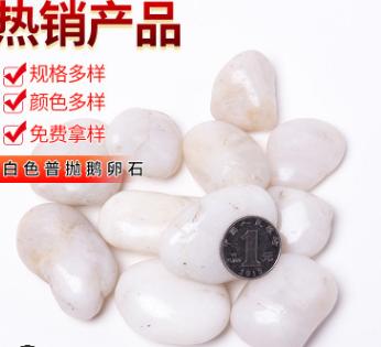 批发南京特级雨花石高抛光鹅卵石园林景观铺路工程用白色小石头