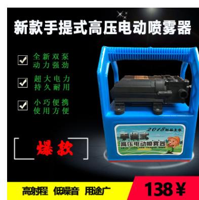 喷雾器农用电动多功能双泵高压充电喷雾机手提式电动喷雾器打药机