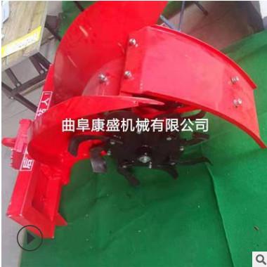 高配置牵引式开沟机 四轮拖拉机带侧置开沟机 大功率沟深60公分