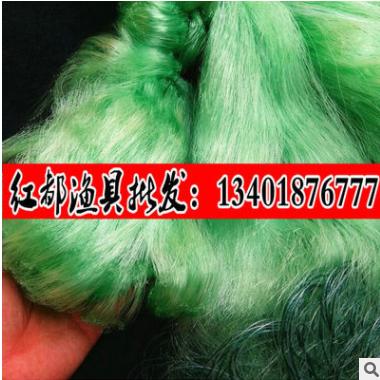 红都渔具厂3米6指进口绿丝三层沉网100米捕鱼网粘网挂网