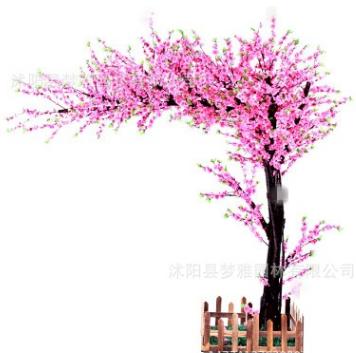 仿真桃花假桃树大型植物仿真樱花树仿真桃花树许愿树桃花客厅装饰
