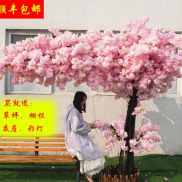 仿真樱花假桃树大型植物仿真樱花树仿真桃花树许愿树桃花客厅装饰