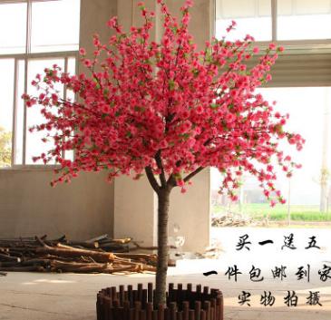 假桃花仿真大型植物桃花树仿真樱花树桃花许愿红包树摆放桃花装饰
