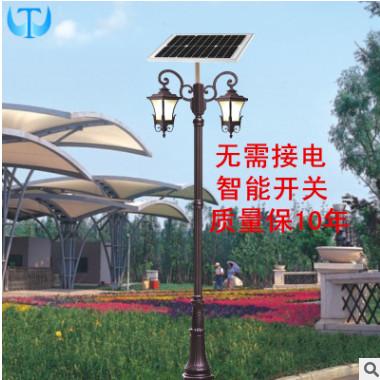 LED太阳能庭院灯3米欧式新农村农村道路景观照明欧式凤凰庭院灯