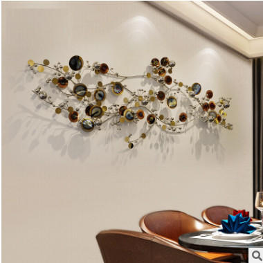 现代金属壁饰挂件酒店过道客厅样板间背景墙面软装饰品创意墙饰