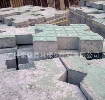 供应豪骏碟型植草砖 包施工 停车场种草砖 透水砖 园林砖 绿地砖