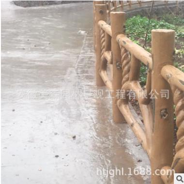 厂家直销安全设施防护栏 仿生态木-D 现货可定制护栏供应价优