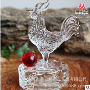 直销新款金鸡招财摆件镀金树脂礼品批发风水工艺品摆设生肖鸡雕塑