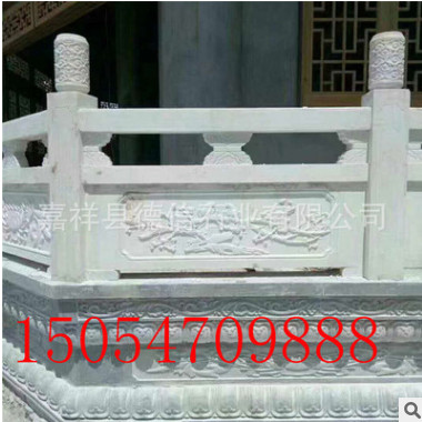 厂家直销石雕栏杆栏板芝麻白花岗岩石栏杆河道护栏石栏杆多钱一米
