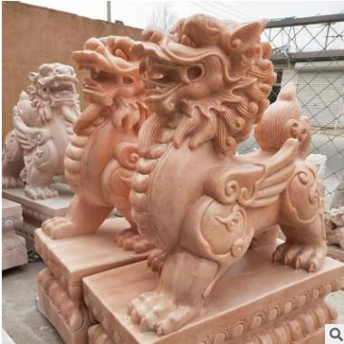 石雕麒麟石料工艺品雕刻工艺品景观雕塑厂家直销动物人物石雕