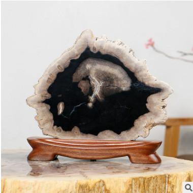 天然木化石工艺品店铺开业礼品欧式摆件家居办公室艺术装饰品批发