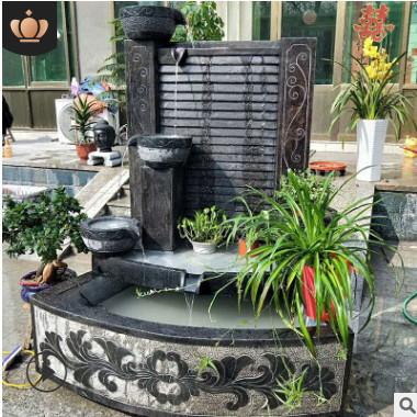 厂家直销 青石石雕养鱼池 仿古鱼缸 老旧石槽 庭院流水摆件