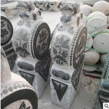 抱鼓石厂家定制天然花岗岩园林石材雕刻门鼓门墩招财进宝石雕摆件
