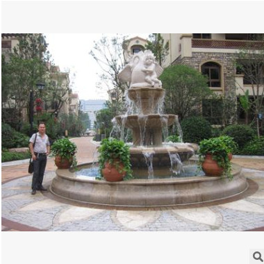 大型户外广场用石雕喷泉 园林景观用精美石雕喷泉定做