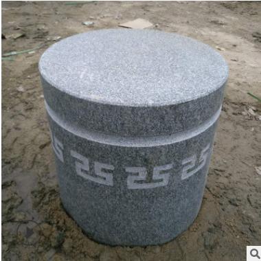 厂家批发花岗岩圆柱挡车石墩 广场专用阻车石 路标将军止车石柱