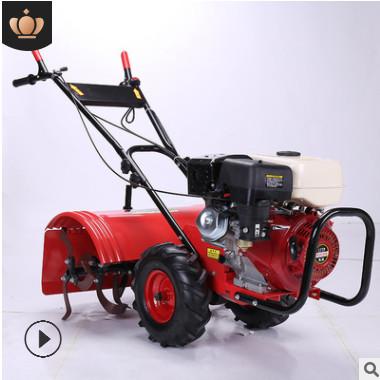 厂家直销新型农业机械微耕机 四驱旋耕机可带犁开沟松土除草批发