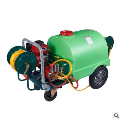 300L超大大容量7HP汽油动力配26柱塞泵式手推式打药机
