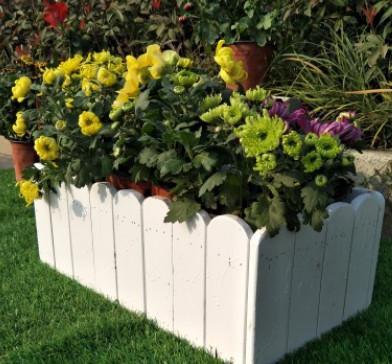 七彩防腐木花盆 碳化鲜花盆栽花槽 种植箱 园艺花箱 阳台庭院户外