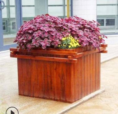 长期供应碳化防腐木花箱 防腐木花箱花槽 室外防腐木花箱