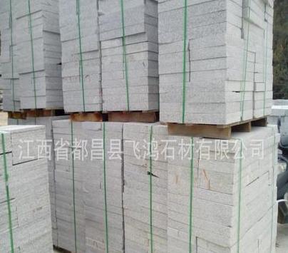 大型工厂 江西九江g603芝麻白粗糙面大理石火烧板