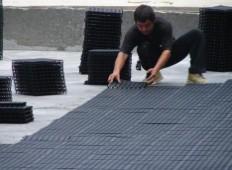 HDPE排水板屋顶花园排水屋顶绿化塑料排水板
