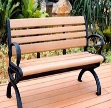 厂家低价批发木塑公园椅 休闲椅 塑木休闲椅 铸铁公园椅 户外座椅