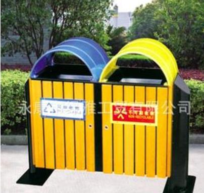 户外垃圾桶 高档环保垃圾屋 钢木垃圾桶 公园景区小区果壳箱