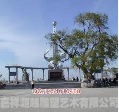 厂家供应定制大型广场超厚不锈钢雕塑