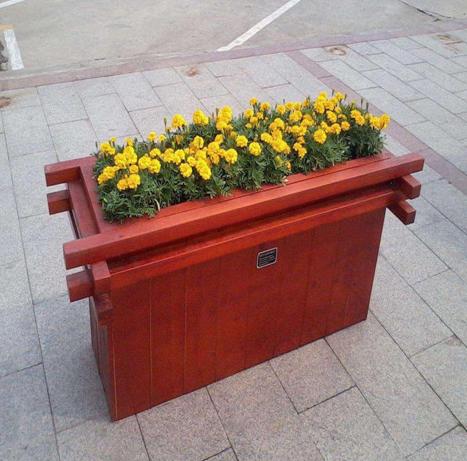 宁夏防腐木花池