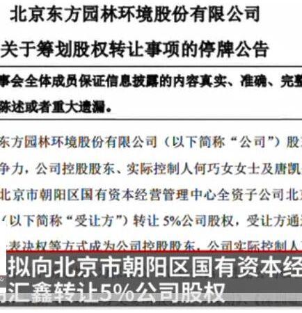 """东方园林资产质量恶化 """"中国女首善""""何巧女夫妇已获巨额收益 (246播放)"""