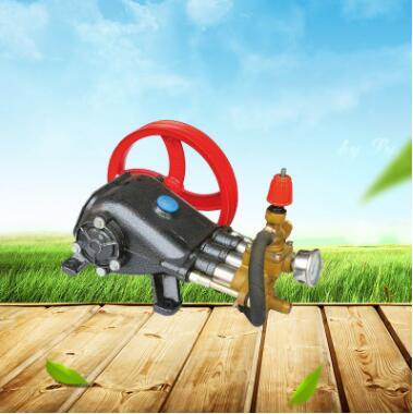 上海超沪55清洗机铁泵头 58高压洗车三缸活塞泵