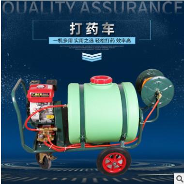手推式汽油打药机 农用高压喷雾器 园林工具 四轮消毒机
