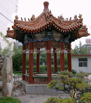 供应凉亭、防腐木小区绿化施工、垃圾桶、花盒选北京润实盛然