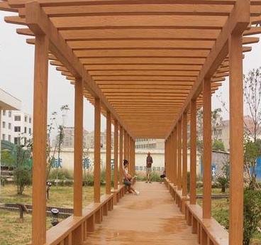 湖北襄阳,景宜欧式水泥仿木长廊,葡萄架,现货热销可施工
