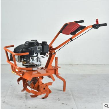 厂家直销小型汽油微耕机松土机微型除草旋耕松土机双手推微耕机