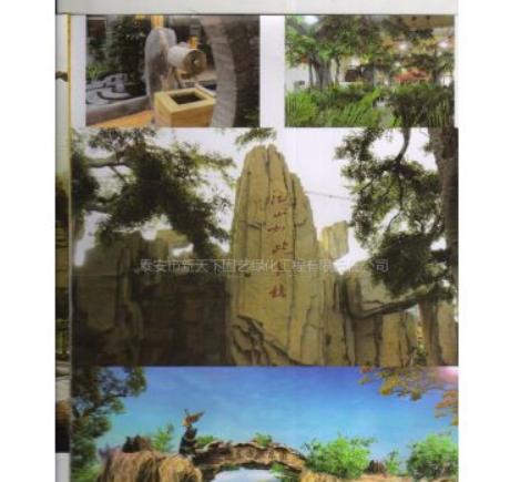 供应泰石、假山、园林工程、园林绿化、假山假树