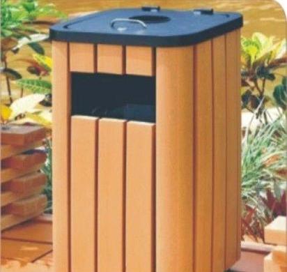 木塑塑木垃圾箱 生态木垃圾桶