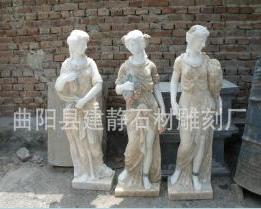 西方人 四季神 天使 人物喷泉 女神