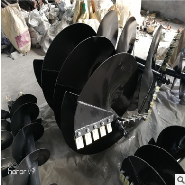 供应直径160mm-800mm规格冻土钻头 螺旋地钻潍坊生产厂家直销