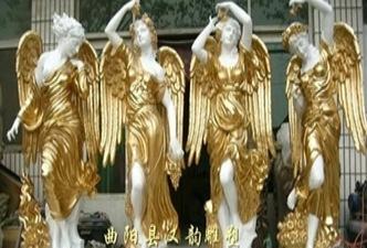 供应曲阳玻璃钢雕塑四季神