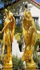供应曲阳玻璃钢人物雕塑 四季神雕塑