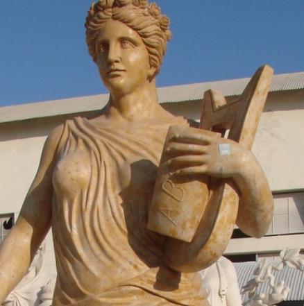 曲阳石雕 拼色人物雕塑 音乐小天使雕塑 埃及人物雕塑 景观雕塑