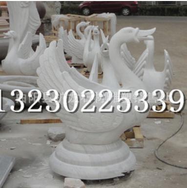 厂家低价直销公园广场花岗岩白天鹅景观流水石天鹅 树脂 铜雕天鹅