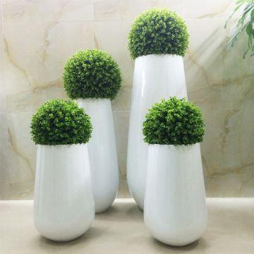 【树脂花盆】玻璃钢花瓶树脂花盆创意酒店大堂花球室内客厅落地花器装饰品定制